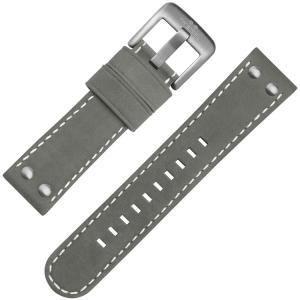 TW Steel Universeel Horlogebandje Grijs Suede Leer