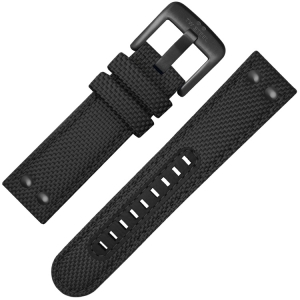TW Steel Horlogebandje VS41, VS43 Zwart Canvas 22mm
