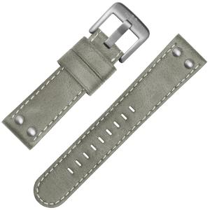 TW Steel Universeel Horlogebandje Grijs Leer
