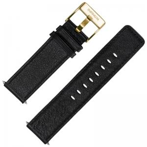Infinum Firmitudo Horlogebandje Zadelleer Gouden Gesp 22mm
