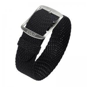 Eulit Perlon Horlogeband Baltic Zwart