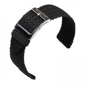 Eulit Two Piece Perlon Horlogeband Palma Pacific Zwart