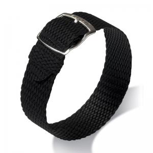 Eulit Perlon Horlogeband Panama Zwart