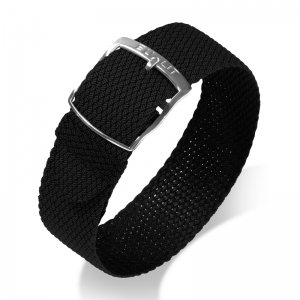Eulit Perlon Horlogeband Kristall Zwart