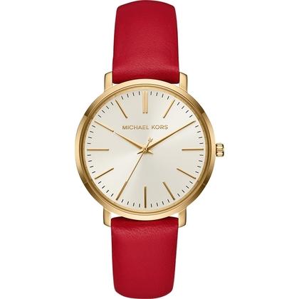 23347b2181d Michael Kors MK2596 Horlogeband Rood Leer