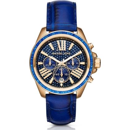 7fde24d3ae4 Michael Kors MK2450 Horlogeband Blauw Leer