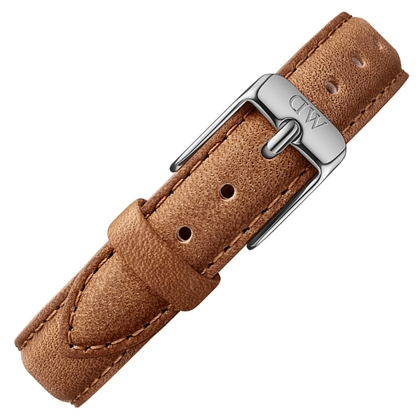 Daniel Wellington 14mm Petite Durham Bruin Leer Horlogebandje RVS Gesp