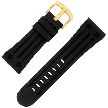 TW Steel Goliath Horlogebandje TW108, TW110, TW114 - Zwart Rubber 30mm