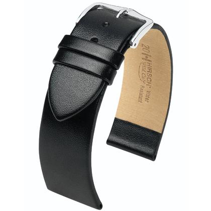 Hirsch Wild Calf Horlogebandje Zwart