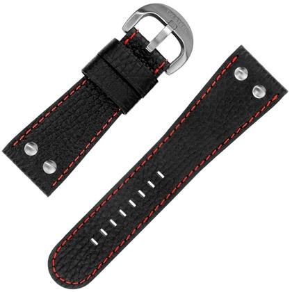 TW Steel Goliath Horlogebandje TW116 - Zwart Rood 30mm