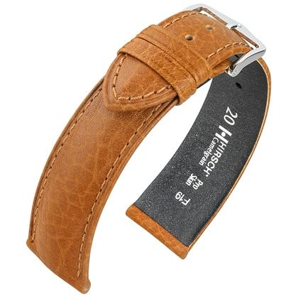 Hirsch Camelgrain Horlogebandje Pro Skin Antiallergisch Honing