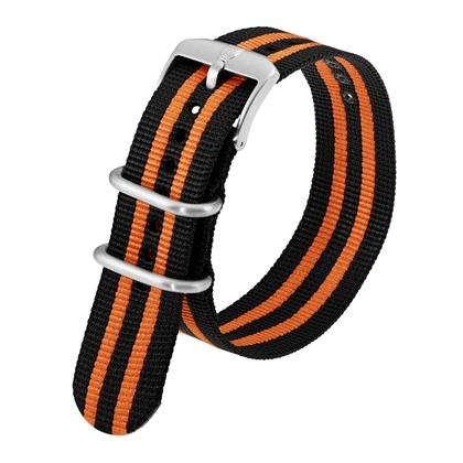 Luminox 3050, 3060, 3080, 3090, 3150, 3950 ZULU Strap Black Orange Nylon 23mm - FN.3950.36Q